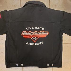 Harley-Davidson Cafe black denim jacket